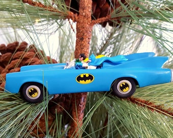 1995 Batmobile Hallmark Keepsake Ornament, Batman's Batmobile, Batman and Robin
