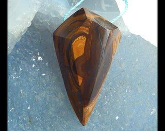 Boulder Opal Gemstone  Pendant Bead,Faceted Pendant,43x25x12mm,15.5g(f0549)
