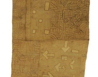 Kuba Raffia Textile Handwoven Congo African Art 119045