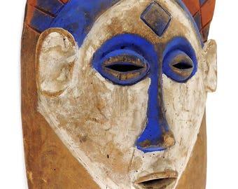 Yaka Mask Mbaala Kholuka Painted African Art 119312