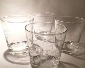 7 Sasaki Bamboo Cocktail Glasses