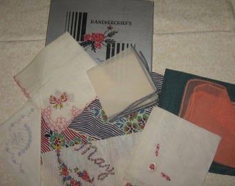 Vintage handkerchiefs in box, 9