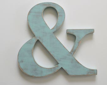 Wooden Ampersand - 12 inch ampersand cut out