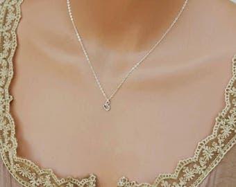 Tiny Horseshoe Necklace, Lucky Necklace, Dainty Sterling Silver Layering Necklace, Charm Necklace, Everyday Necklace