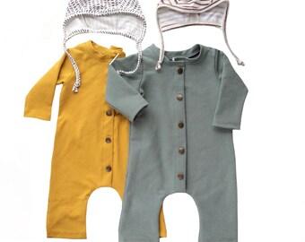 Twin boy outfits Organic cotton baby clothes Hipster baby clothes Baby boy clothes Coming home outfit boy Newborn boy romper Helmet hat