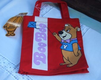 Vintage Boo Boo Bear Tote Bag. Never Used with Paper Tag. Very Strong Vinyl and Fabric Canvas. Yogi Bear TV Show from Hanna Barbera.