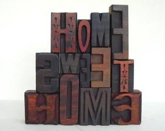 25% OFF - Home Sweet Home -13 Vintage Letterpress Alphabets Collection - VG11