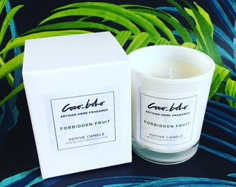 FORBIDDEN FRUIT soy wax votive candle