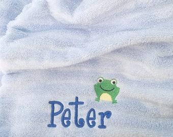 Personalized Beach Towel, Beach Towel, Frog, Flip Flops, Butterfly, Kids Beach Towel, Embroidered Towels, Pool Towel, Personalized Gift