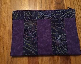 Batik quilted bag
