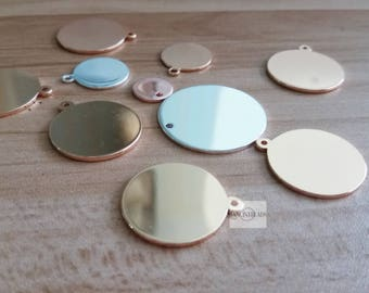 50 pcs randomly mixed Engravable stainless steel  blanks--variety of shapes blank  steel charms