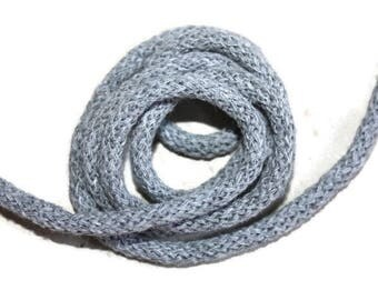 5 mm Gray Cotton Rope = 5 Yards = 4.57 Meters of Elegant Cotton Braided Cord - Bulky Yarn - Super Bulky Yarn - Macrame Cotton Cord