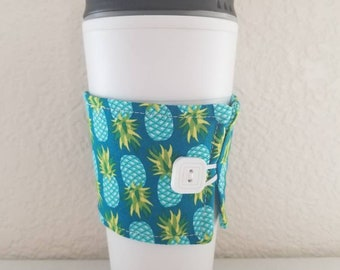 Coffee Cozy-Blue Pineapple (0803)