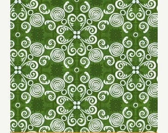 CIJ Gingerbread Christmas, Windham Fabrics, Kate McCrostie, Green, 1/2 Yard