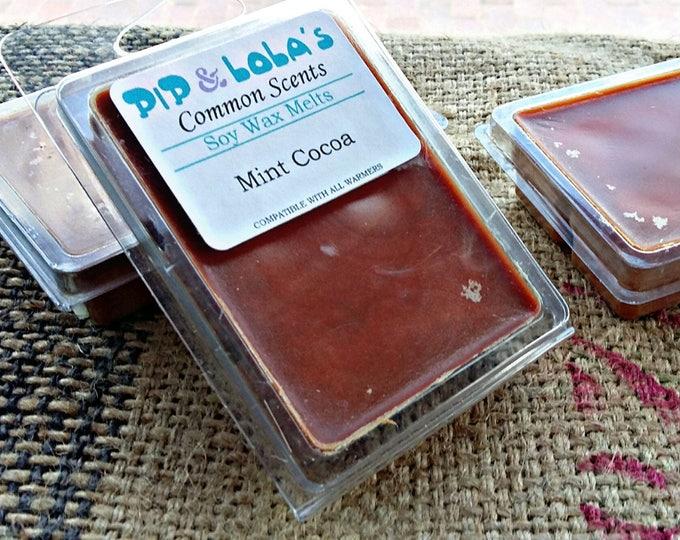 Mint Cocoa Wax Melt - Pip & Lola's Common Scents - Soy Candle Wax, Wax Tarts, Wax Melt, Soy Wax, Clamshell Melts, Candle melt, Wax warmer