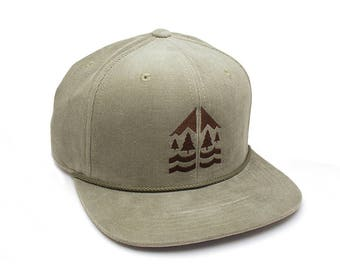 Corduroy Hat - Mountain Forest River - Adjustable Men's/UnisexCorduroy Hat