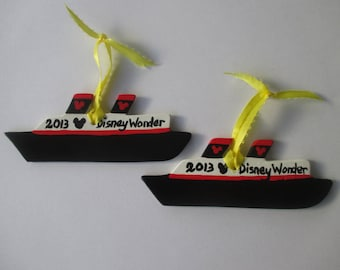 Disney Cruise Ceramic Personalized Ornament - Great for Fish Extender FE gift