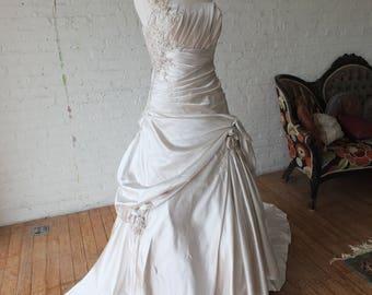 Plus size wedding gown ballgown