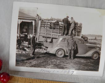 Winter Moving Day 1937 Automobile and Truck