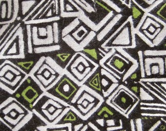 Brown/Green Flannel Fabric