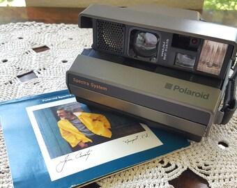 Polaroid Spectra System Vintage Instant Film Camera with Original Booklet