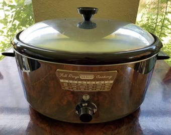 Vintage Mid Century Nesco N-105 Full Range Cooking Cooker/Roaster In Lovely Condition!