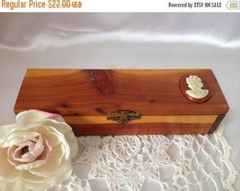 ON SALE Cameo Wooden Box Wood Treasure Box