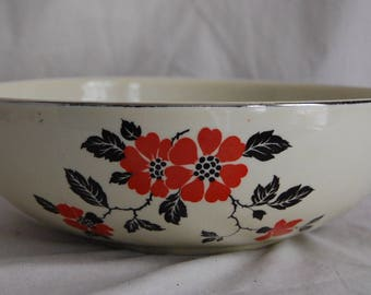 Antique Vintage Hall's Superior Quality Kitchenware Mixing Bowl