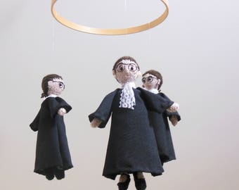 Baby Mobile, Ruth Bader Ginsburg, RBG Baby Mobile, Supreme Court Justice, Notorious RBG, Nasty Woman, I Dissent, Girl Baby Mobile, Feminist