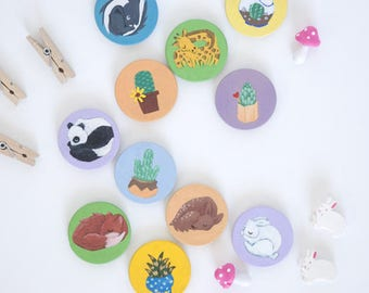Acrylic Painted Magnets