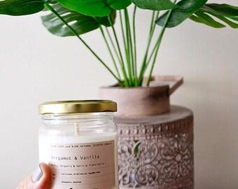 Bergamot&Vanilla %100 natural Soy Candles