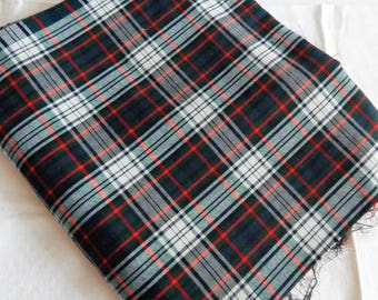 "2 Pcs Tartan Plaid Fabric 16"" Wide x 54"" Long"