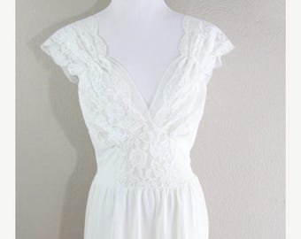 SALE Bohemian lace and sheer slip