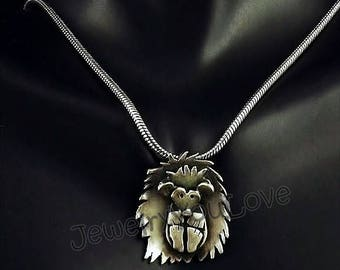Sterling Silver Hedgehop Necklace - Gizmo