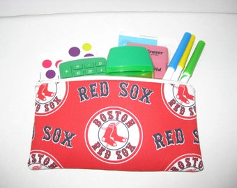 Boston Red Sox Baseball Team Pencil Case