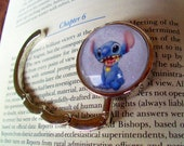 Stitch Hanger (H800), Purse or Bag Hook, Graphic under Glass, Disney Lilo and Stitch Character