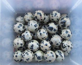 10mm Dalmation Jasper Gemstone Beads