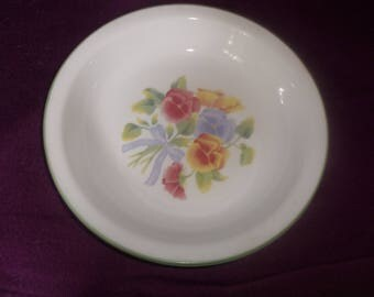 lot 2 vintage corelle pie serving plate summer blush pansy