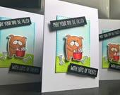 Dog Birthday Card, Bulldog Greeting Card, Dog Congratulations Card, Dog Lover Gift, Bulldog Birthday Card