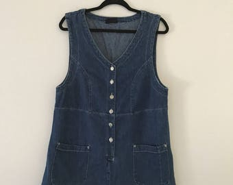 Vintage 90's Denim Mini Dress