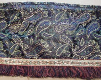 Paisley Fabric Trim 56 Inches Long//Sewing Notions