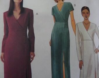 PRINCESS SEAM DRESS Pattern • McCalls 9584 • Miss 12-16 • Surplice Bodice • Slit Hem • Sewing Patterns • Womens Patterns • WhiletheCatNaps