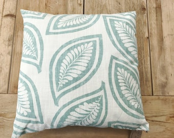 "Sage Colored Leaves Pillow Cover 16"" x 16"" Pillow - with or without pillow insert"
