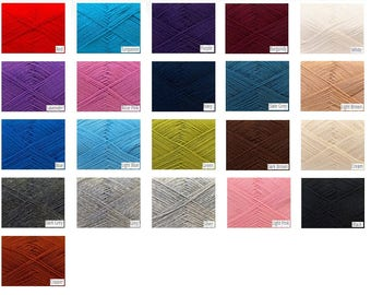Knitted Samples of Merino Wool Yarn for the Long Sleeve Sweater Scarf Shrug