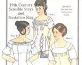 19th Century Sensible Stays and Gestation Stay Pattern