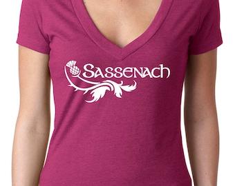 Sassenach Thistle shirt