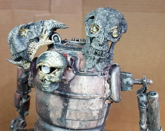 Assemblage three headed zombie droid