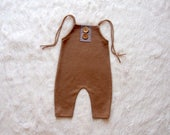 NEW-Sitters Size Caramel Romper,Sitters Romper,Photography Prop Overalls,Baby Boy Outfits,Toddlers Photo Props,Sitters Overalls,Sitters Prop