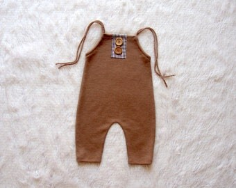 NEW-Sitters Size Caramel Romper,Sitters Romper,Photography Prop Overalls,6-9 Months Romper,Toddlers Photo Props,Baby Overalls,Sitters Props