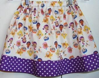 Bubble Guppies  Skirt    (12 mos, 18 mos,24 mos  2T, 3T, 4T, 5, 6, 7)